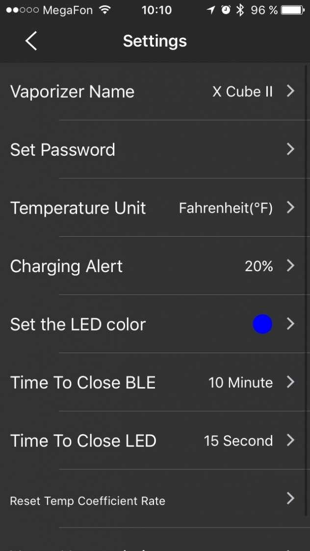 SMOK X CUBE 2 iOS app